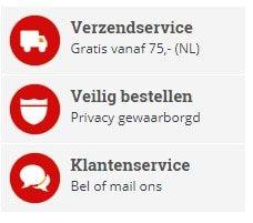 Verzending en klantenservice