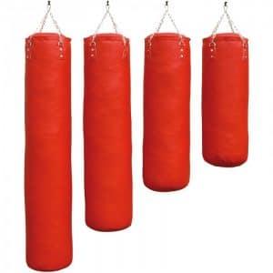 bokszak-luxury-zwart staandebokszakken drb martial arts rood