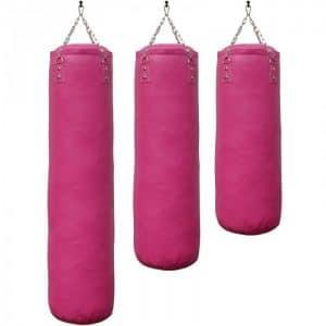 bokszak-luxury-zwart staandebokszakken drb martial arts roze