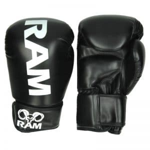 RAM PRO 1 Kickboks Handschoenen Zwart Wit